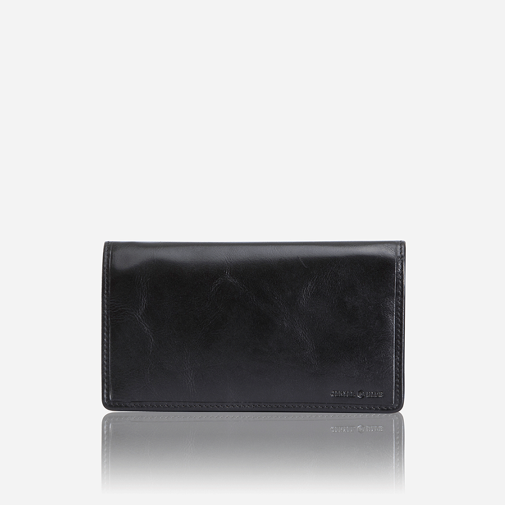 Large Leather Purse, Black - Jekyll and Hide SA