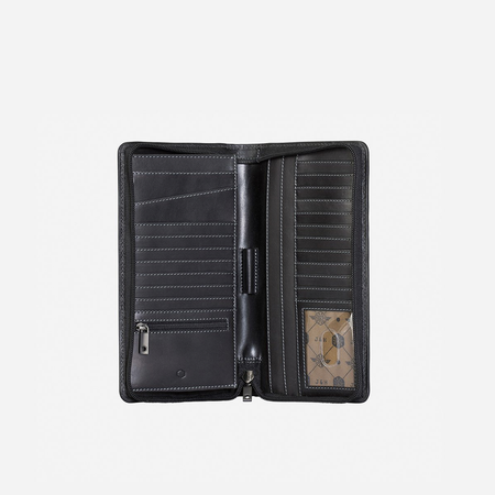 Large Zip-Around Travel And Passport Organiser, Black - Jekyll and Hide SA