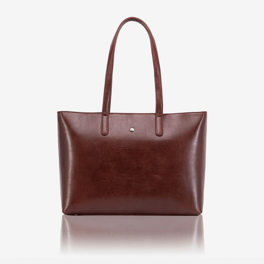 Large Ladies Laptop Shopper, Burgundy - Jekyll and Hide SA