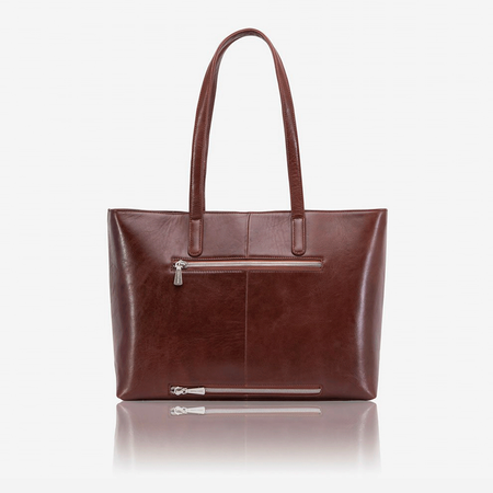 Large Laptop Shopper, Burgundy - Jekyll and Hide SA