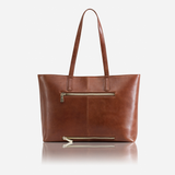 Large Ladies Laptop Shopper, Tan - Jekyll and Hide SA