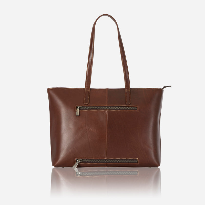 Large Ladies Laptop Shopper, Tobacco - Jekyll and Hide SA