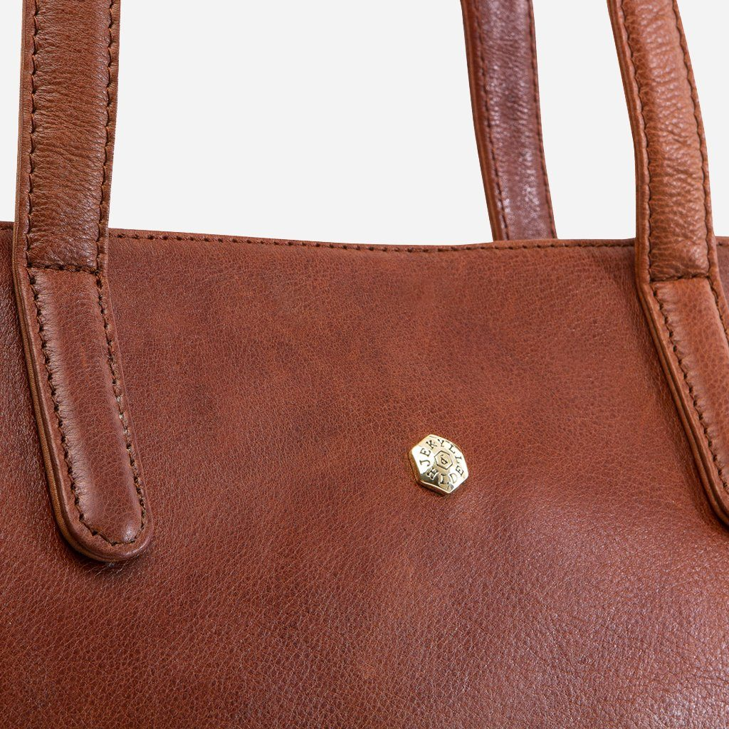 "Large 15"" Classic Shopper Handbag, Brown - Jekyll and Hide SA"