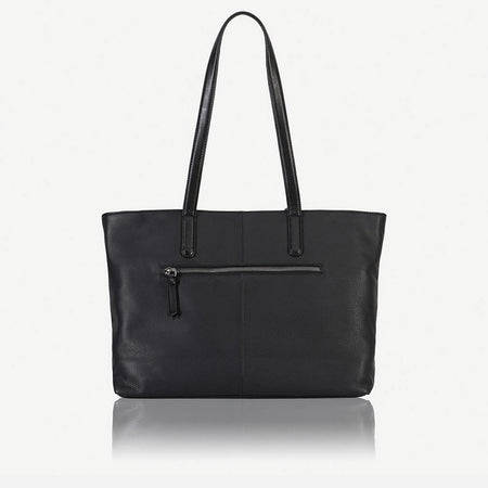 Unstructured Ladies Tote Handbag, Black - Jekyll and Hide SA