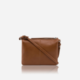 Slim Ladies Leather Crossbody, Tan - Jekyll and Hide SA