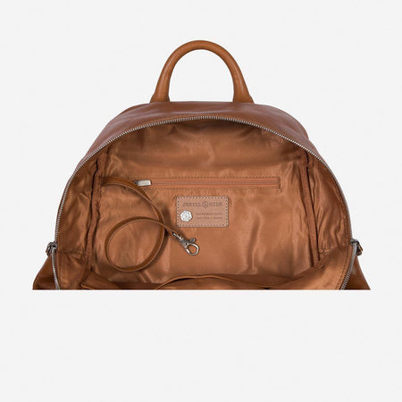 Leather Everyday Ladies Backpack, Tan