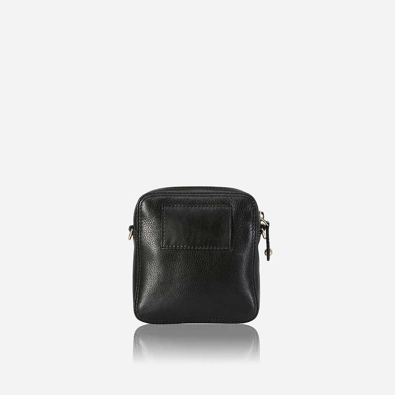 Slim Leather Crossbody Bag, Black - Jekyll and Hide SA