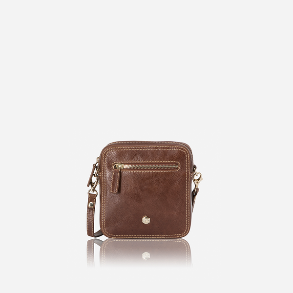 Slim Leather Crossbody Bag, Tan - Jekyll and Hide SA