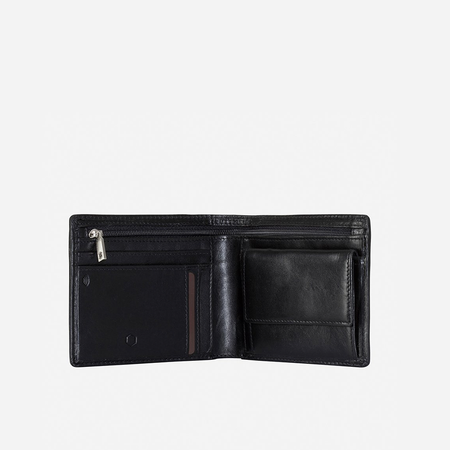Medium Billfold Wallet With Coin, Black - Jekyll and Hide SA