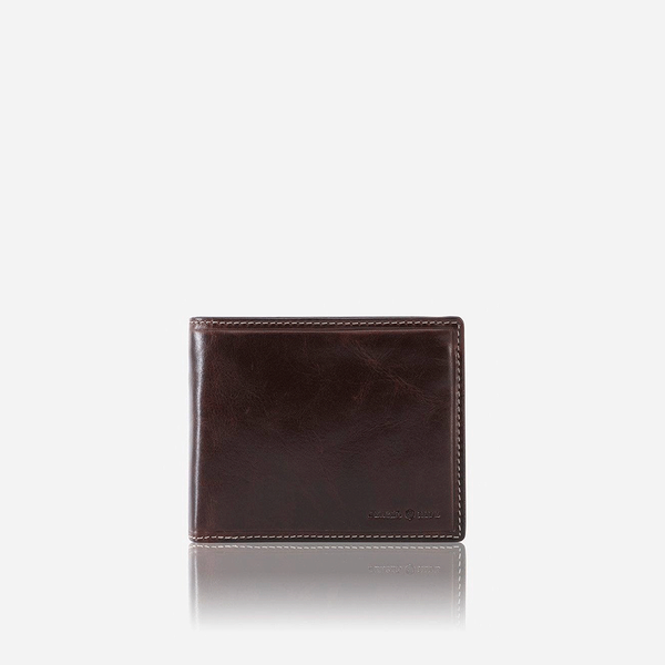 Oxford Wallets - Medium Billfold Wallet With Coin, Coffee