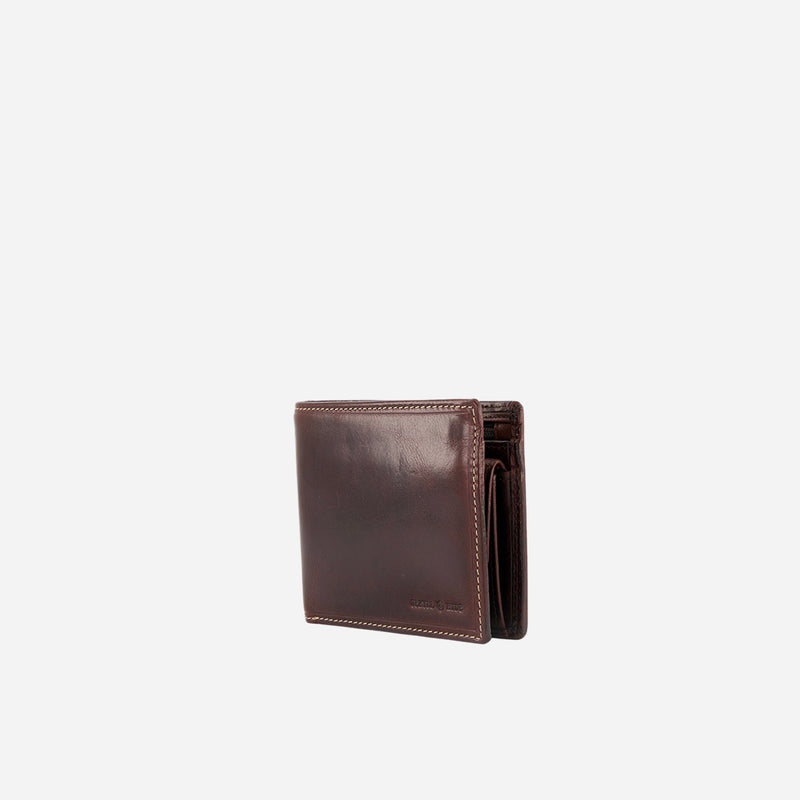 Medium Billfold Wallet With Coin, Coffee - Jekyll and Hide SA