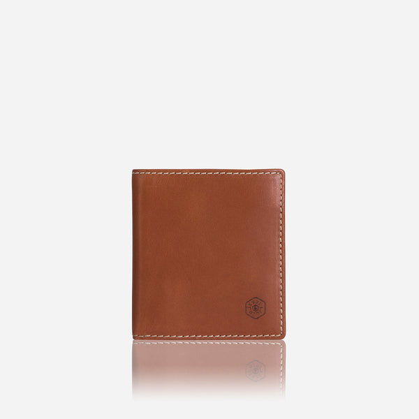 Slim Leather Billfold Wallet with Coin Pocket, Tan - Jekyll and Hide SA
