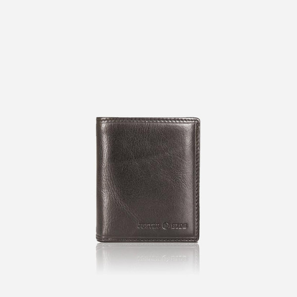 Flip Over Leather Wallet, Black - Jekyll and Hide SA
