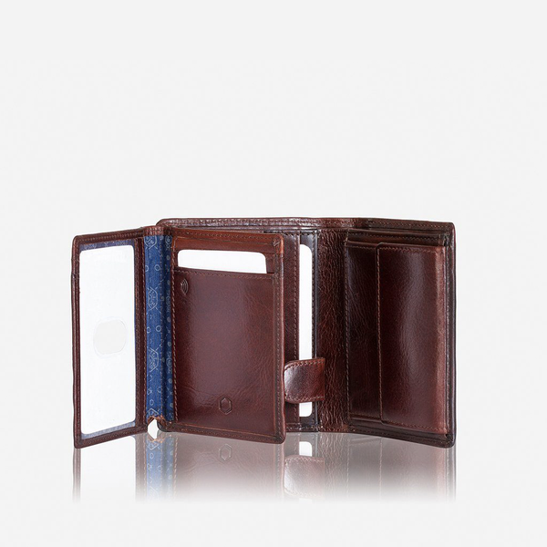 Oxford Wallets - Billfold Wallet With ID Window, Coffee