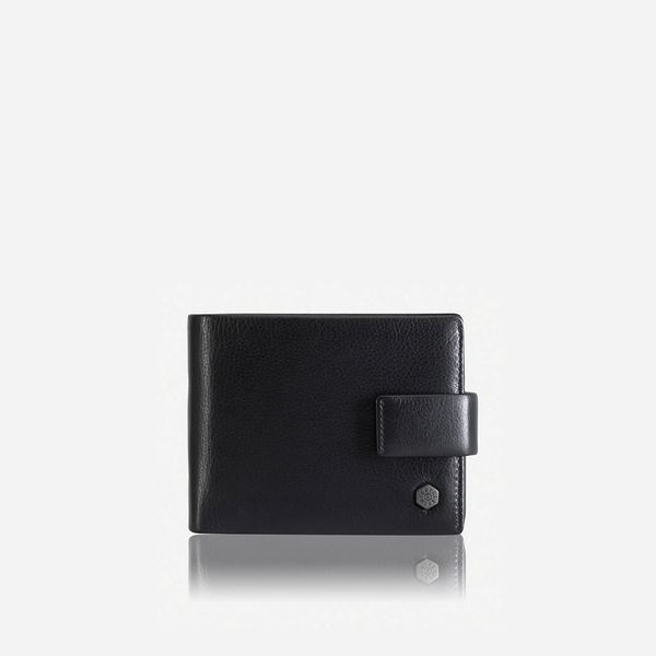 Trifold Leather Wallet, Black - Jekyll and Hide SA