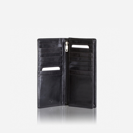 Large Travel And Mobile Wallet, Black - Jekyll and Hide SA