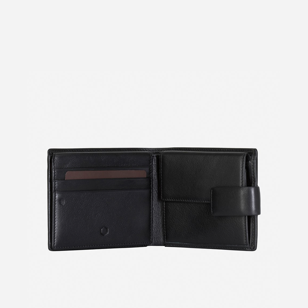 Large Billfold Wallet With Coin And Tab, Black - Jekyll and Hide SA