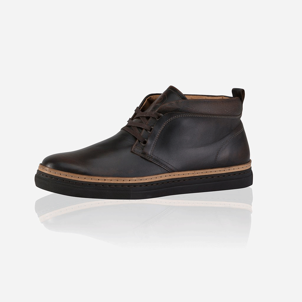 Lisbon Leather Sneakers, Chocolate - Jekyll and Hide SA