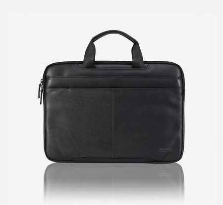 Extra Slim Laptop Briefcase, Black - Jekyll and Hide SA