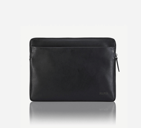 "13"" Zip Around Laptop Folder, Matte Black - Jekyll and Hide SA"