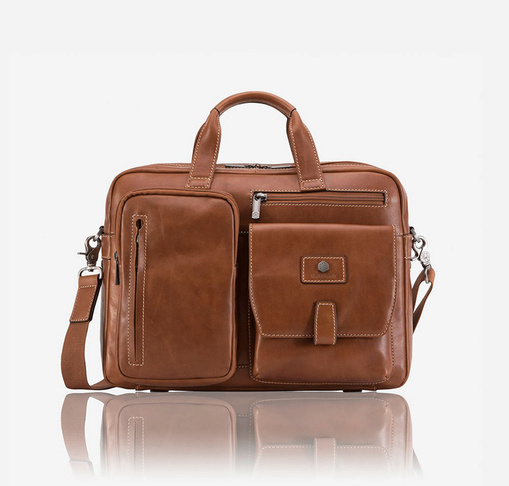 "Medium 15"" Laptop Briefcase, Colt - Jekyll and Hide SA"