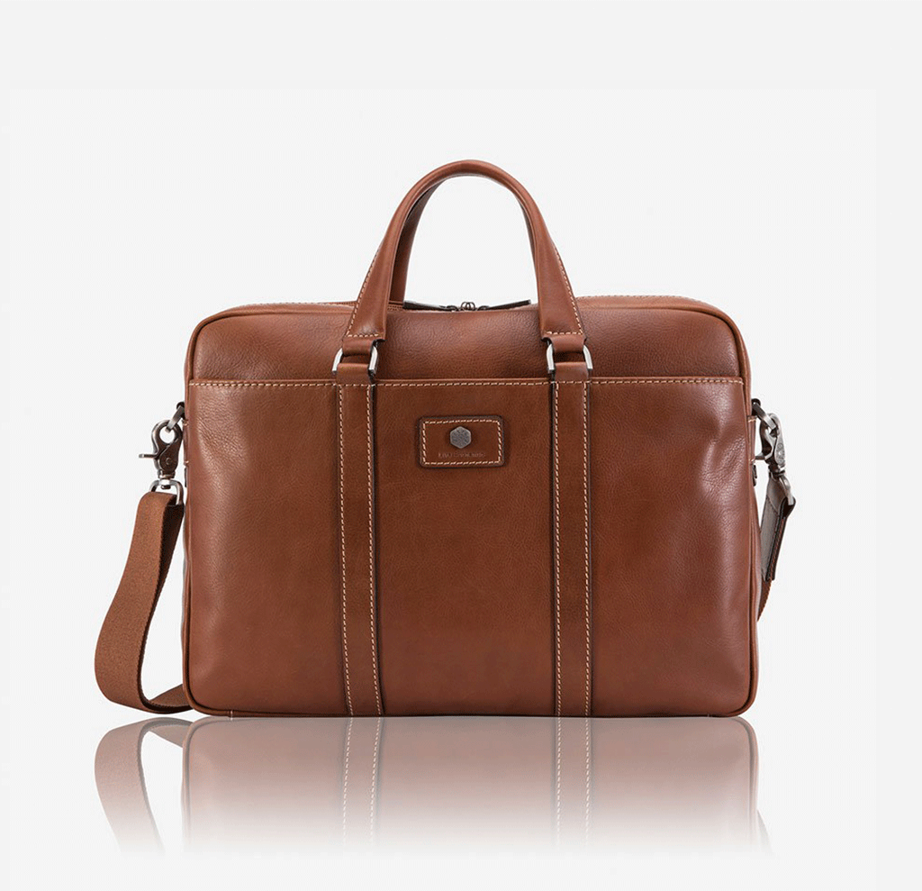 Slim Laptop Briefcase, Colt - Jekyll and Hide SA