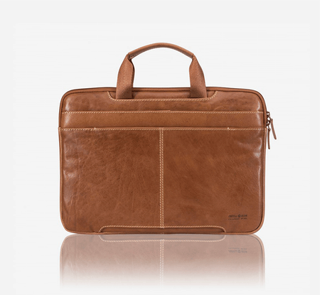 Extra Slim Laptop Briefcase, Tan - Jekyll and Hide SA