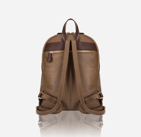 Classic Capri Leather Backpack, Two Tone - Jekyll and Hide SA
