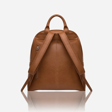 Leather Everyday Ladies Backpack, Tan - Jekyll and Hide SA