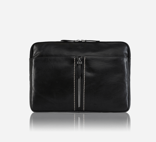 Laptop Folder with Detachable Strap, Black - Jekyll and Hide SA