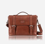 Double Buckle Laptop Briefcase - Jekyll and Hide SA