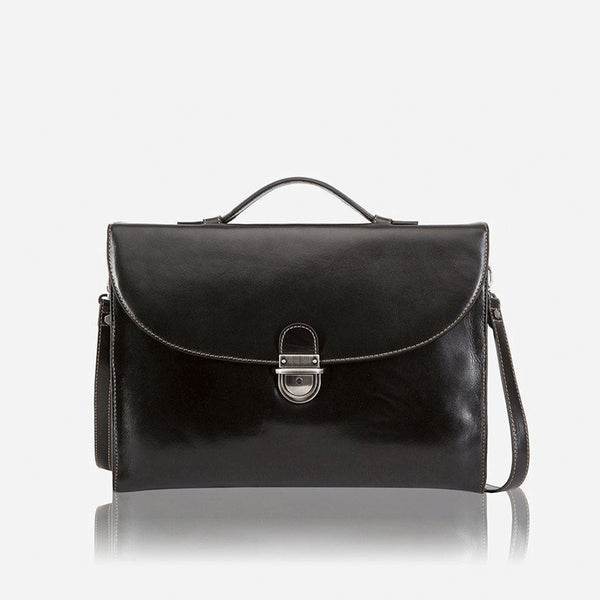 Extra Slim Business Briefcase, Black - Jekyll and Hide SA