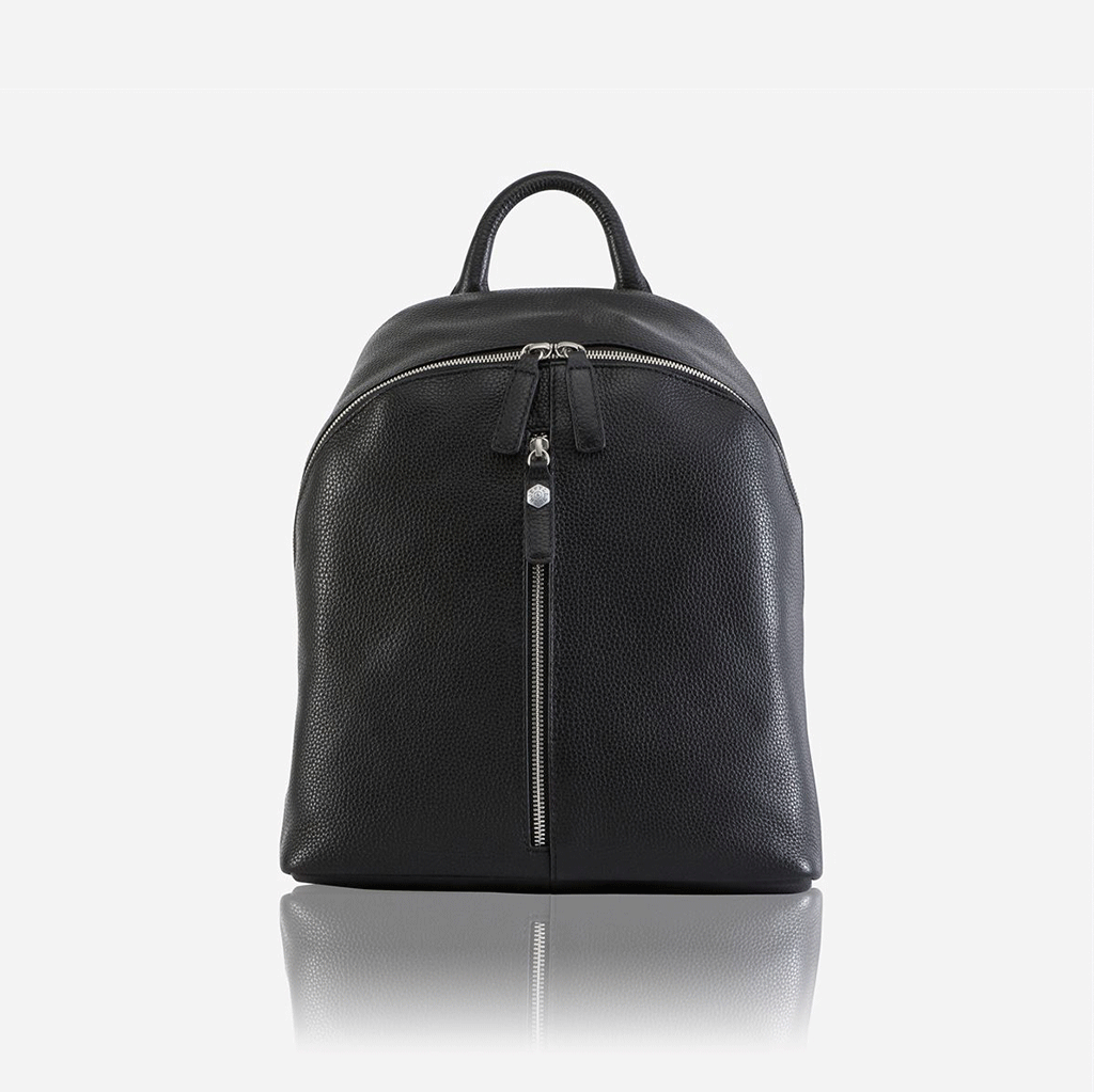 Ladies Leather Everyday Backpack, Black - Jekyll and Hide SA