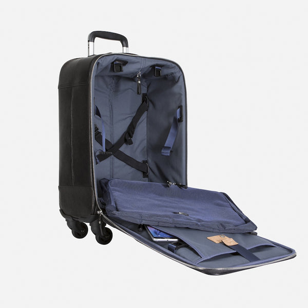 4 Wheel Cabin Trolley 50 cm, Soft Black - Jekyll and Hide SA