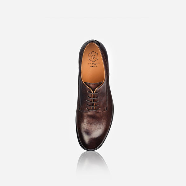 Leather Brogues - Men's Leather Lace Up Shoe, Brown