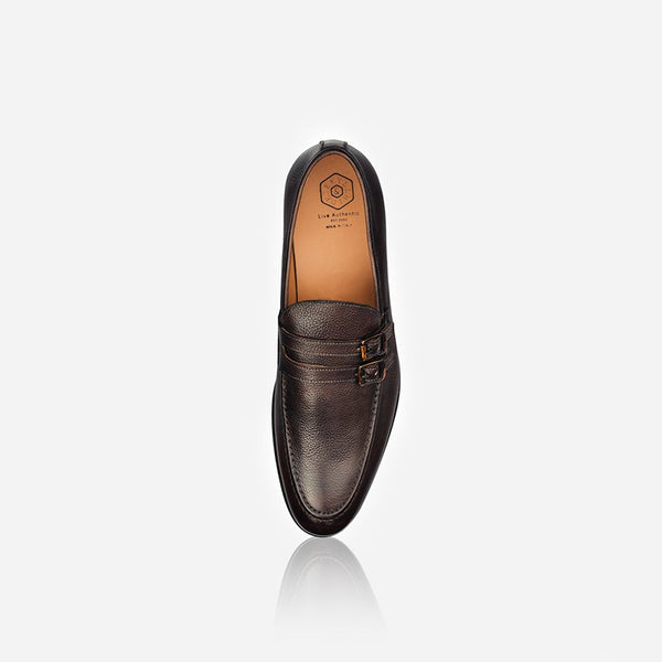 Men's Leather Monk Shoe, Brown - Jekyll and Hide SA