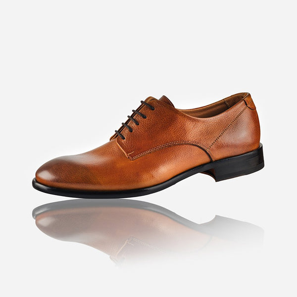 Leather Brogues - Men's Leather Lace Up Shoe, Tan