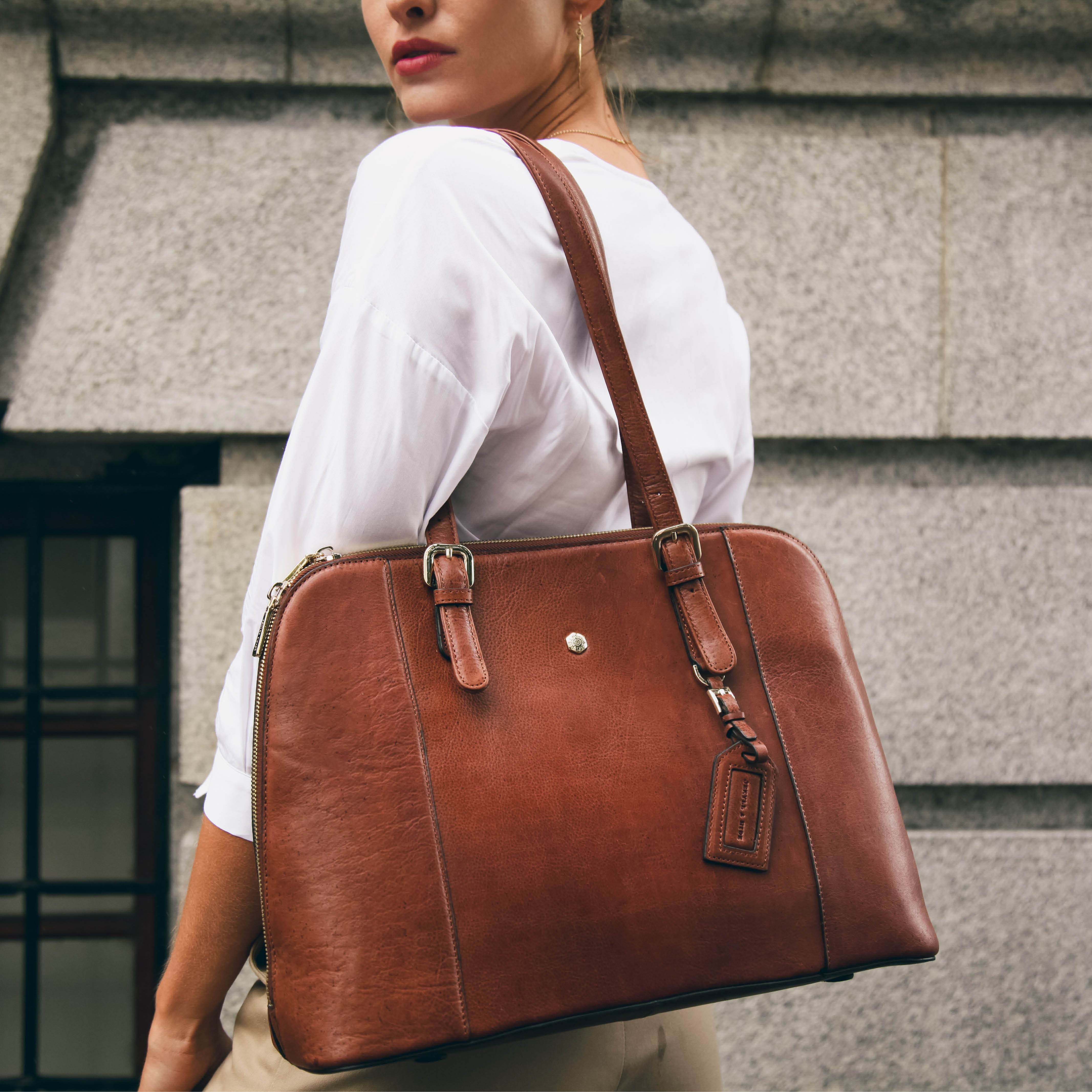 Ladies Business Handbag, Tan - Jekyll and Hide SA