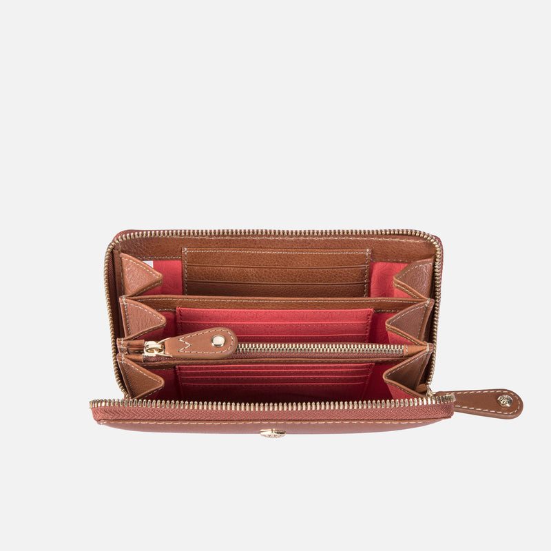 Medium Zip Around Purse, Tan - Jekyll and Hide SA
