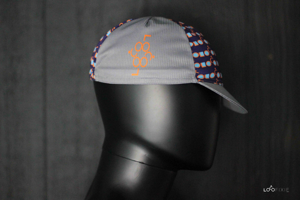Loco Cycling Cap – Grey/Purple