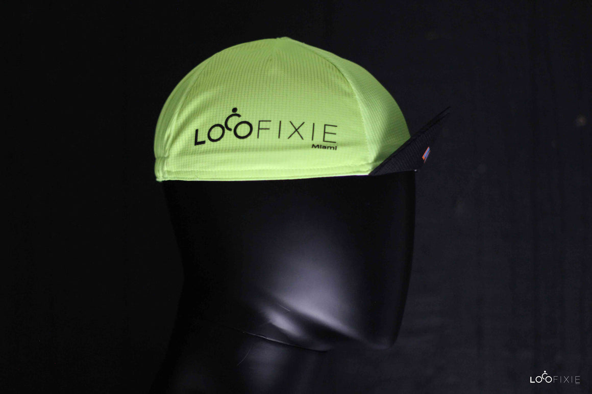 Loco Cycling Cap – Neon Yellow
