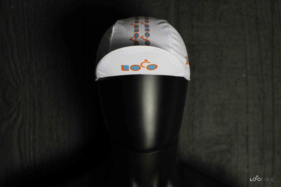 Loco Cycling Cap – White