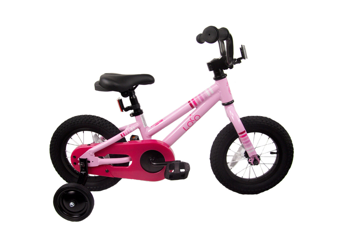 "Loco Girl's 12"" & 16"" Bicycle - The Baby Pink"