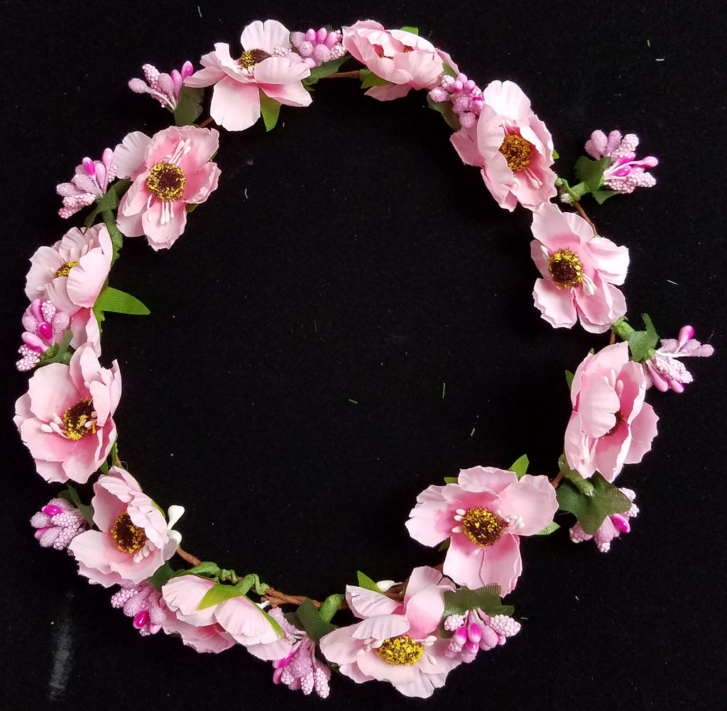 Meta namepdomainverify content new girls faux flower crown spring chic round halo hair accessory izmirmasajfo