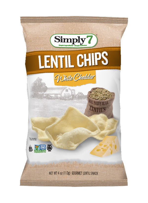 Simply 7 Lentil Chips White Cheddar