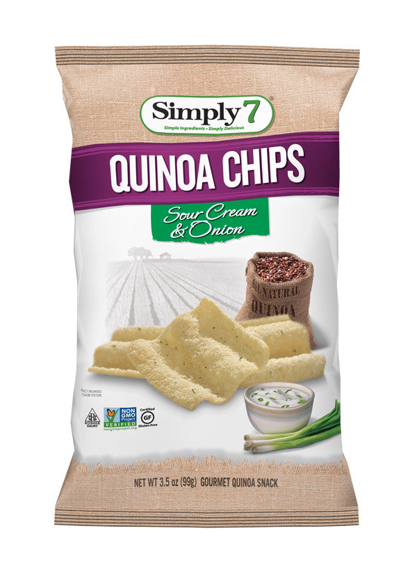 Simply 7 Quinoa Chips Sour Cream & Onion