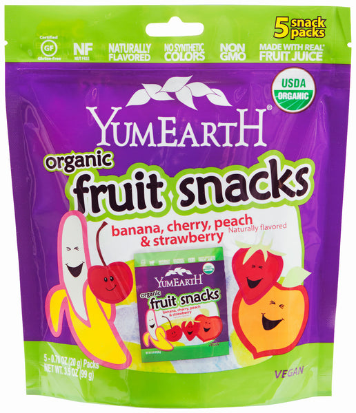 YummyEarth Fruit Snacks: 60 bags