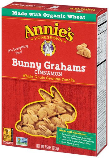 Annie's Homegrown Bunny Grahams Cinnamon: 12 boxes