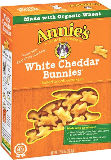 Annie's Homegrown White Cheddar Bunny Crackers