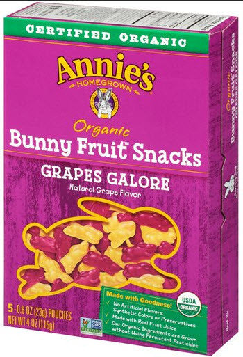 Annie's Homegrown Organic Grape Fruit Snacks